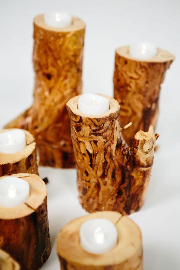 Tea Light Holder - Textured
